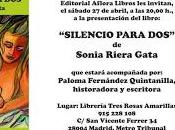 """Presentación """"Silencio para dos"""", Sonia Riera Gata"""