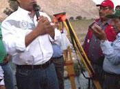 Javier alvarado coloca primera piedra nuevo sistema riego sayan…