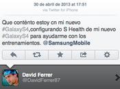David Ferrer promociona Samsung Galaxy desde iPhone