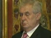 Presidente checo borracho acto oficial