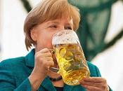 Angela Markel, gran bebedora cerveza