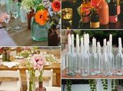 Chic Centros mesa botellas/Bottles center pieces