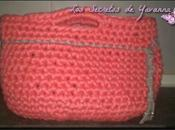 ♣Bolso trapillo color rosa gris