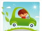 Conduciendo coche automático