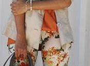 Orange Floral Pants