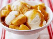 Platano caramelizado helado vainilla