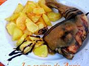 Pollo asado salsa manzana