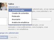 Administradores roles páginas facebook