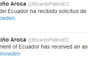 Ministro Relaciones Exteriores Ecuador confirma Twitter solicitud asilo Snowden infografía]