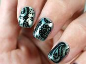 Uñas decoradas mano diseño Cachemir Rotuladores para nail