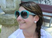 Turquoise polka dots sunglasses Marc Jacobs