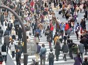 cruce peatones gente encuentre Tokyo