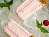 Polos, helados, paletas popsicles tarta queso fresas frambuesa