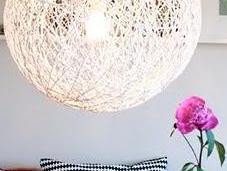 Lámpara tipo random light globo, lana vaselina