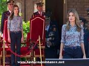 Príncipes Asturias visitan Academia Aire León. look Dña. Letizia
