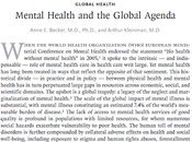 Salud Mental Agenda Global Becker Kleinman