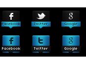 Iconos Sociales efecto Cambiante Blogger