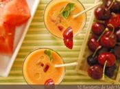 Gazpacho sandía cerezas