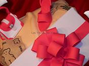Tarta fondant caja regalo: zapato-pañuelo bolso