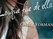 """ella"""" Gayle Forman pronto Argentina"""