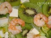 Ensalada Kiwi Gambas. Cocina Saludable