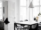 apartamento escandinavo blanco negro, interiorismo rudo personal
