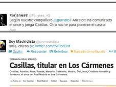 """¡Vaya circo! """"titularidad"""" Casillas Granada"""