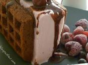 Pastel Helado Gofres Chocolate