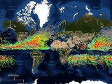 Increíble mapa muestra últimos años huracanes
