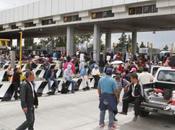 Maestros CNTE dieron libre paso casetas cobro Puebla Chalco