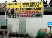 Fujimoristas muestran pancartas calles recordando captura abimael guzmán