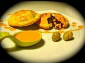 Empanadillas morcilla pera