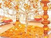 Casamiento naranja Centros mesa