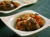 Curry rojo albóndigas garbanzos