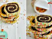 Galletas espiral sprinkles
