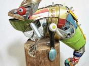 arte animal reciclado Natsumi Tomita