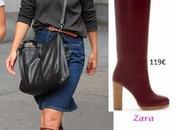 Katie Holmes calzando botas Zara...