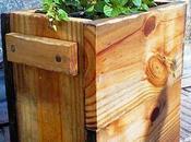 Carretillas y jardineras de madera paperblog - Maceteros de madera para exterior ...