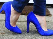 Crochet blue shoes