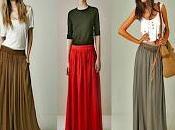 Cómo combinar falda larga