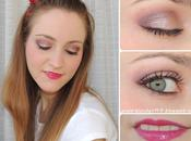 Look maquillaje rosado borgoña