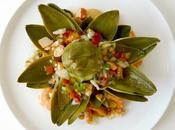 Flor alcachofa salpicón marisco