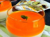Orange mousse glass