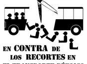 Manifestación Alpedrete. recortes autobuses, transporte público calidad