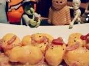 Gnocchi batata almendra jamón salvia