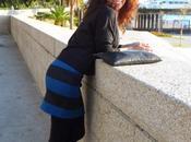 Falda rayas cremallera