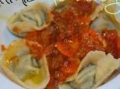 Tortellinis rellenos berenjena salsa pomodoro