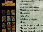 "Cargad: [Warhammer] ""cajas juguetes"" (sets miniaturas plástico)"