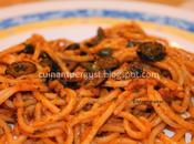 Espaguetis picantes siciliana
