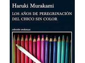 años peregrinación chico color. Haruki Murakami